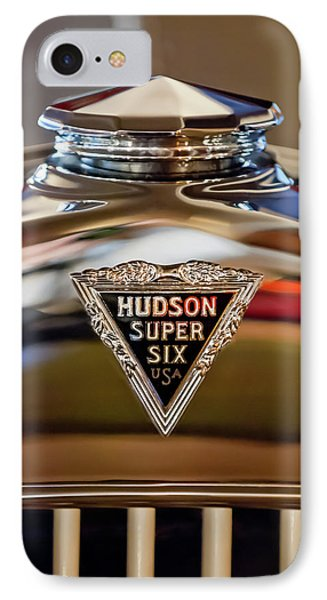 1929 Hudson Cabriolet Hood Ornament Phone Case by Jill Reger