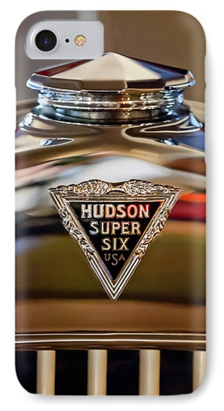1929 Hudson Cabriolet Hood Ornament IPhone Case by Jill Reger