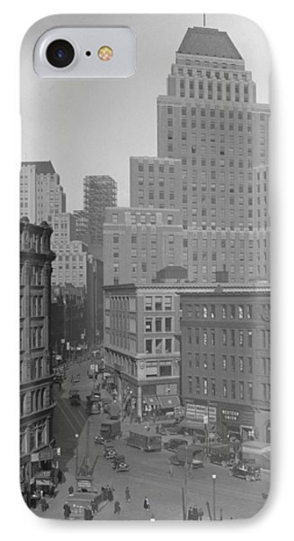 IPhone Case featuring the photograph 1929 Summer Street In Dock Square Boston by Historic Image