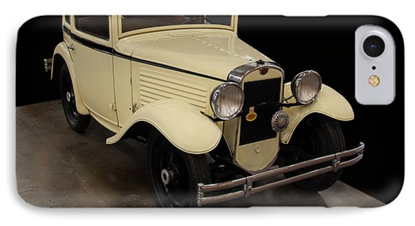 IPhone Case featuring the digital art 1930 American Austin 5 Window Coupe by Chris Flees