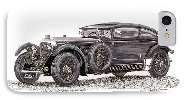 1930 Bentley Blue Train Coupe IPhone Case by Jack Pumphrey