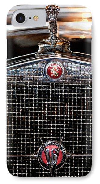 1930 Cadillac Roadster Hood Ornament 3 Phone Case by Jill Reger