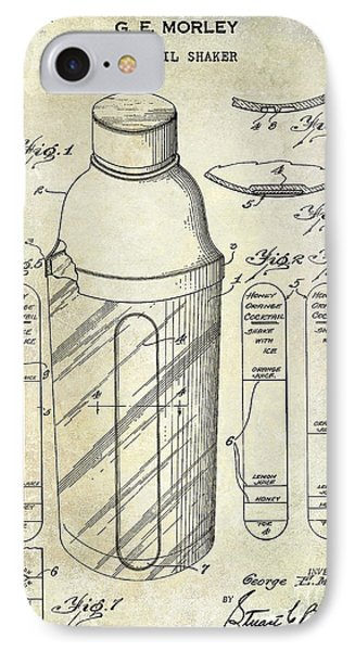 1930 Cocktail Shaker Patent IPhone Case