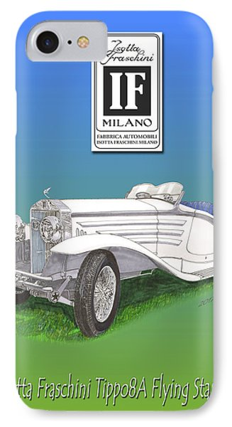 1930 Isotta Fraschini Tippo 8 A Flying Star Roadster IPhone Case by Jack Pumphrey