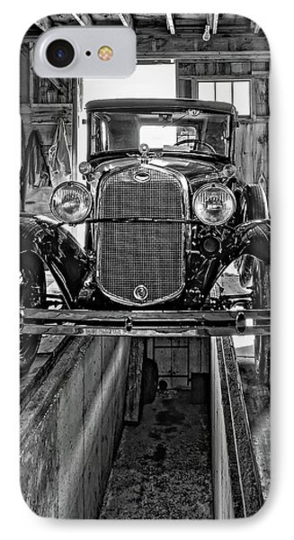 1930 Model T Ford Monochrome Phone Case by Steve Harrington