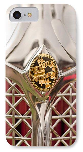 1931 Chrysler Cg Imperial Lebaron Roadster Grille Emblem Phone Case by Jill Reger