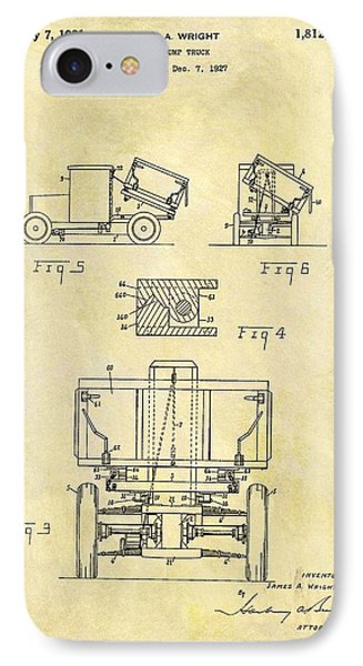1931 Dump Truck Patent IPhone Case by Dan Sproul