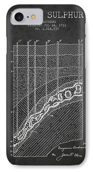 1931 Mining Sulphur Patent En38_cg IPhone Case by Aged Pixel