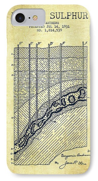 1931 Mining Sulphur Patent En38_vn IPhone Case by Aged Pixel