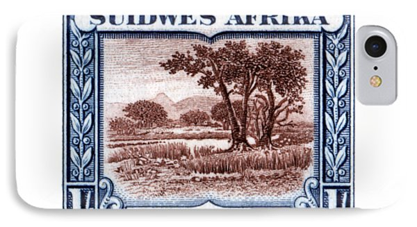 IPhone Case featuring the painting 1931 South West African Landscape Stamp by Historic Image