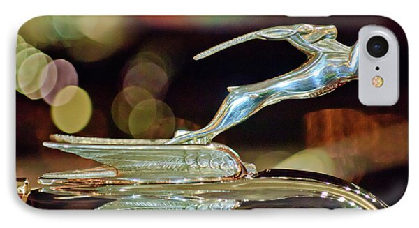 1932 Chrysler Imperial Hood Ornament 1 Phone Case by Jill Reger