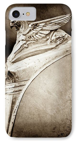 1932 Essex Griffin Hood Ornament -0478s IPhone Case by Jill Reger