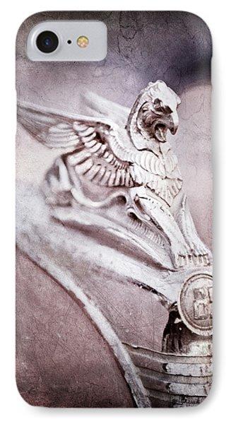 1932 Essex Griffin Hood Ornament -0482ac IPhone Case by Jill Reger