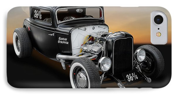 IPhone Case featuring the photograph 1932 Ford Deuce Coupe C/gas Roadster by Frank J Benz