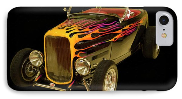 1932 Ford Roadster Digital Oil IPhone Case by Chris Flees