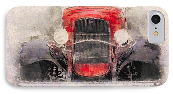 1932 Ford Roadster Red And Black IPhone Case