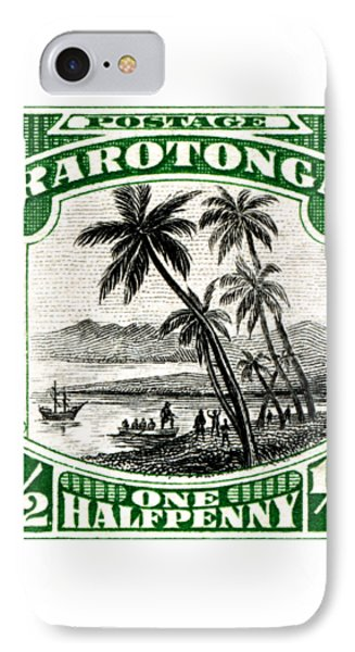 IPhone Case featuring the painting 1932 Landing Of Captain Cook Stamp by Historic Image