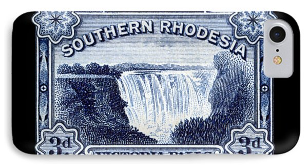 IPhone Case featuring the painting 1932 Southern Rhodesia Victoria Falls Stamp by Historic Image