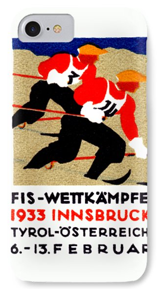 1933 Austrian Ski Race Poster Phone Case by Historic Image