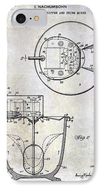 1933 Electric Cream Whipper Patent IPhone Case