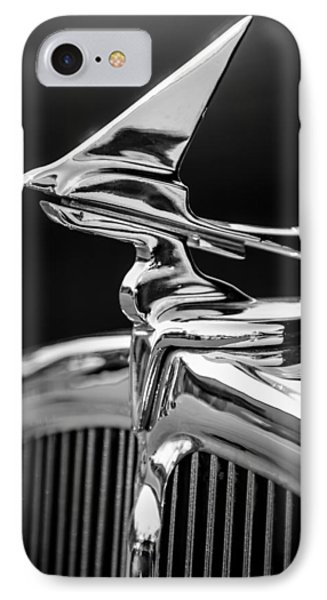 1933 Franklin Olympic Hood Ornament -030bw IPhone Case
