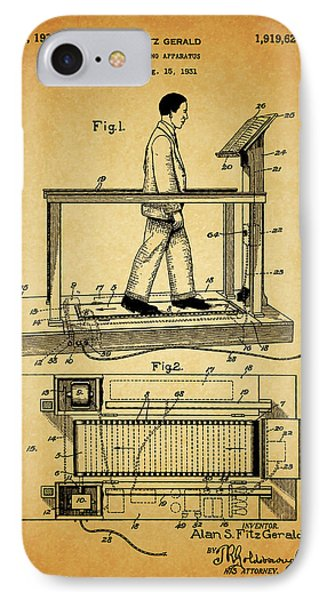 1933 Treadmill IPhone Case by Dan Sproul