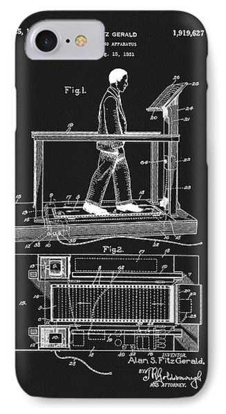 1933 Treadmill Patent IPhone Case by Dan Sproul