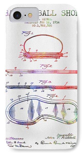 1934 Basket Ball Shoe Patent - Color IPhone Case