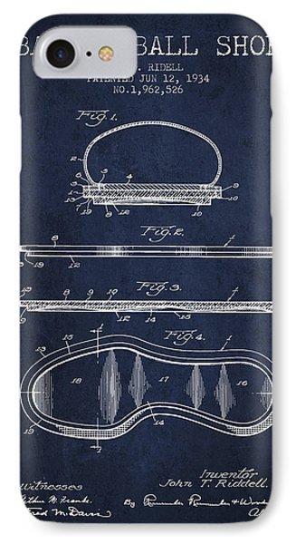 1934 Basket Ball Shoe Patent - Navy Blue IPhone Case