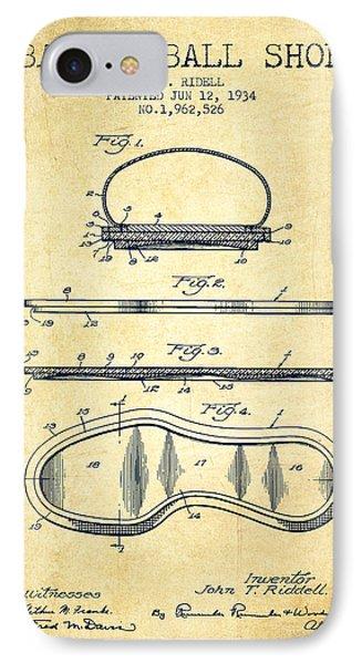 1934 Basket Ball Shoe Patent - Vintage IPhone Case
