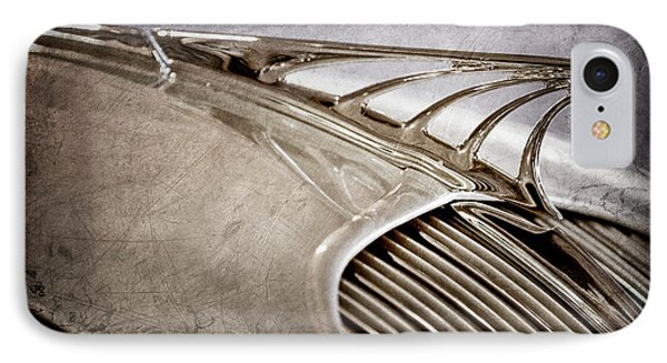 IPhone Case featuring the photograph 1934 Desoto Airflow Coupe Hood Ornament -2404ac by Jill Reger