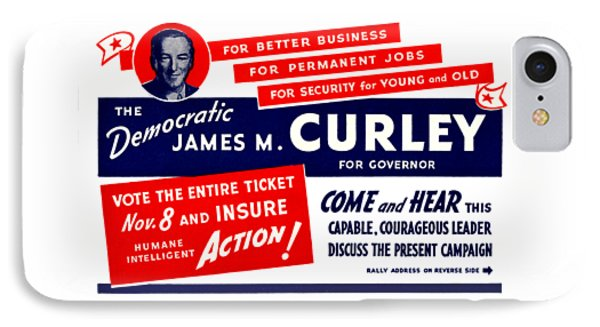 1934 James Michael Curley IPhone Case by Historic Image