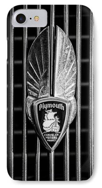 1934 Plymouth Emblem 2 IPhone Case by Jill Reger