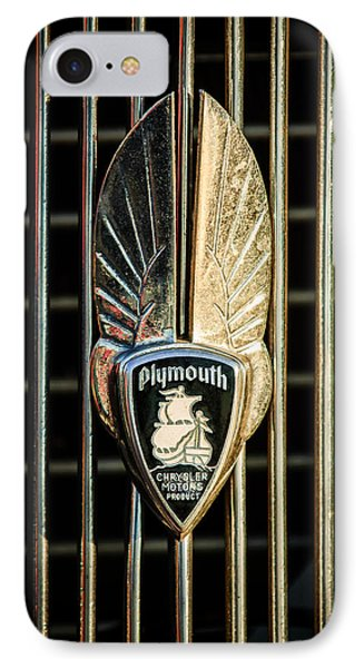 1934 Plymouth Emblem Phone Case by Jill Reger