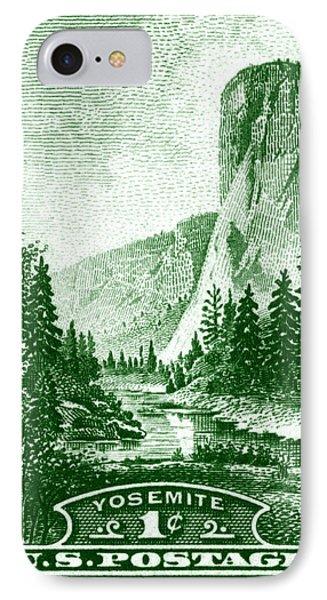 1934 Yosemite Park Stamp IPhone Case