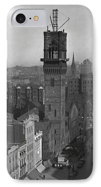 IPhone Case featuring the photograph 1935 Back Bay Construction, Boston by Historic Image