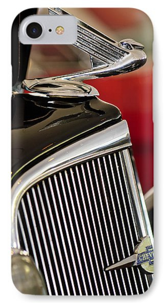 1935 Chevrolet Optional Eagle Hood Ornament Phone Case by Jill Reger