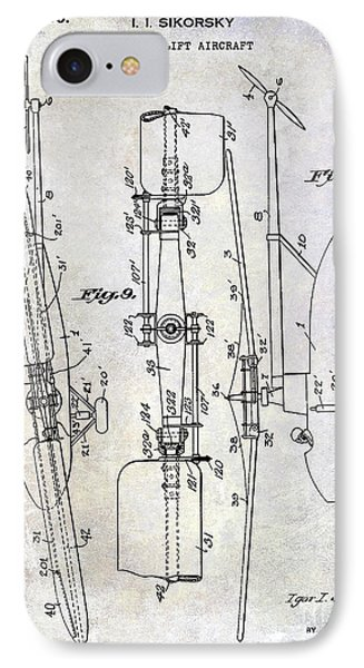 1935 Helicopter Patent  IPhone 7 Case