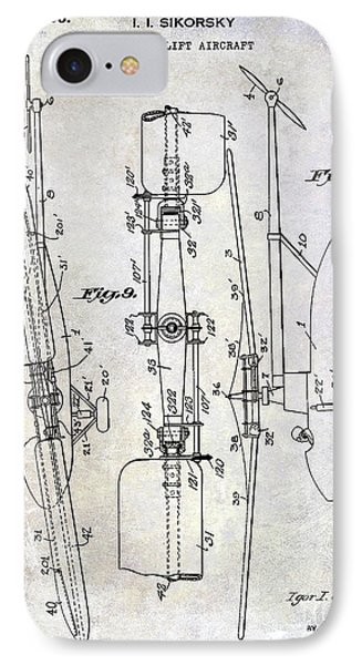 1935 Helicopter Patent  IPhone Case