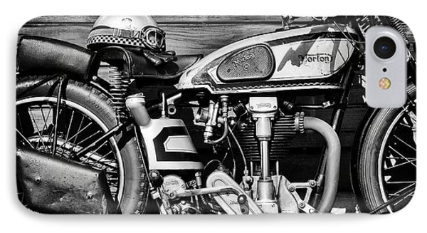 IPhone Case featuring the photograph 1935 Norton Model 30 Motorcycle by Tim Gainey