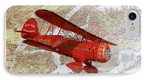 1935 Sightseeing Waco Bi Plane  IPhone Case by Jack Pumphrey