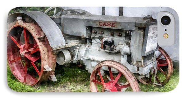 1935 Vintage Case Tractor IPhone Case by Edward Fielding