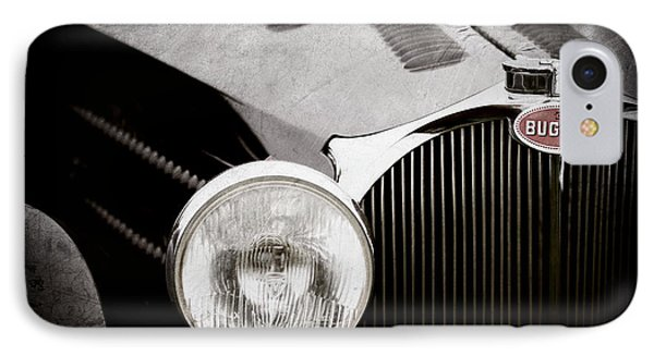 1936 Bugatti Type 57s Corsica Tourer Grille Emblem -1673ac IPhone Case by Jill Reger