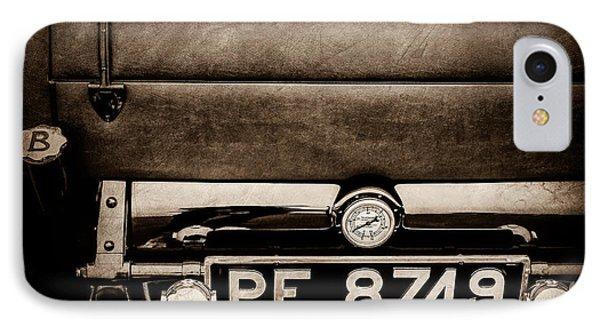 1936 Bugatti Type 57s Corsica Tourer License Plate -0067s IPhone Case by Jill Reger