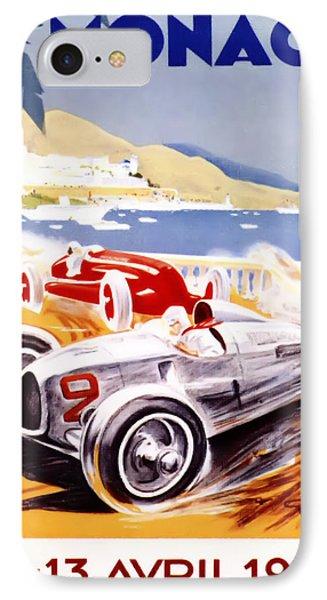 1936 F1 Monaco Grand Prix  Phone Case by Georgia Fowler