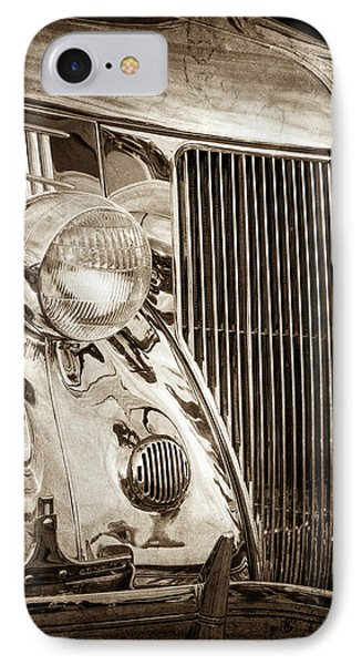 1936 Ford Stainless Steel Grille -0376s IPhone Case
