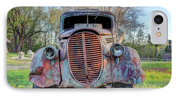 IPhone Case featuring the photograph 1936 Model 511 1/2 Ton Stakebed Farm Truck Near Charlevoix, Mic by Peter Ciro