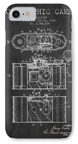1936 Photographic Camera Patent - Charcoal IPhone Case