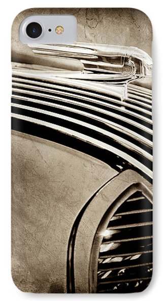 IPhone Case featuring the photograph 1936 Pontiac Hood Ornament -1140s by Jill Reger