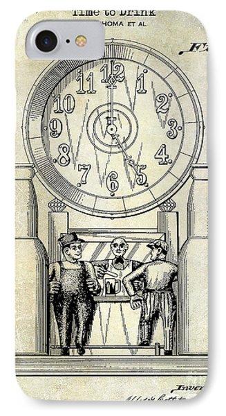 1937 Beer Clock Patent IPhone Case by Jon Neidert